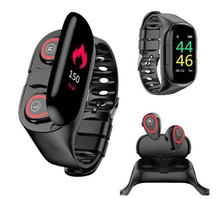 M1 Ai Smartwatch With True Wireless Earpods Smart Watch Bluetooth Earbuds Wireless Earbuds