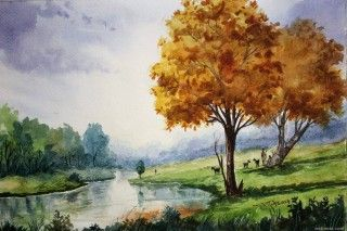 Best Watercolor Paints About Her Chef Paintings In The April