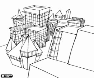 Desenho De Um Bairro Da Cidade Para Colorir Cidade Desenho