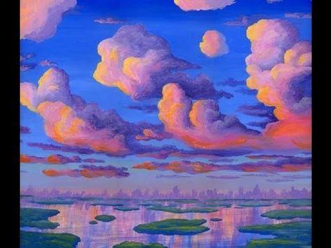 Peindre Des Grands Nuages Au Coucher 5 Du Soleil Aquarelles