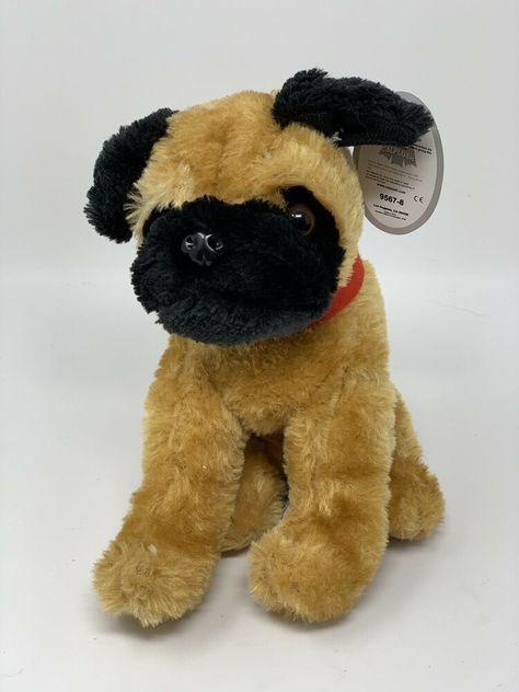 Calplush Plush Pug Stuffed Animal Dog 7 Soft Toy Carnival Prize