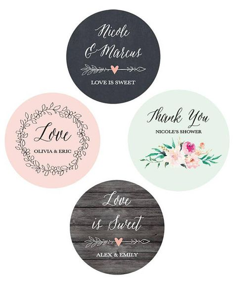 Wedding Favor Sticker Labels Are