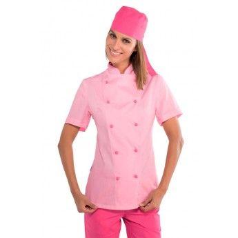 Misemiya Chaquetas Chef Cocinera Mangas Cortas Veste Femme
