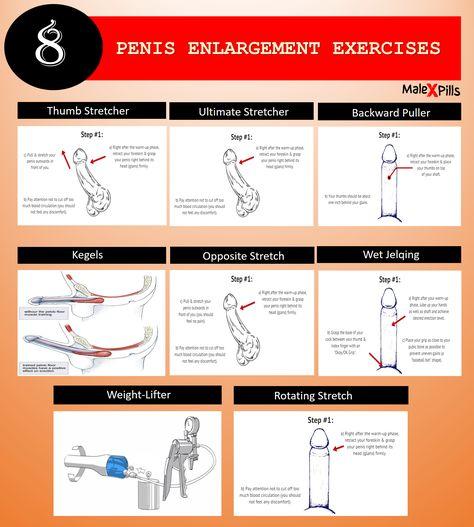 Penis enlargement exercise techniques