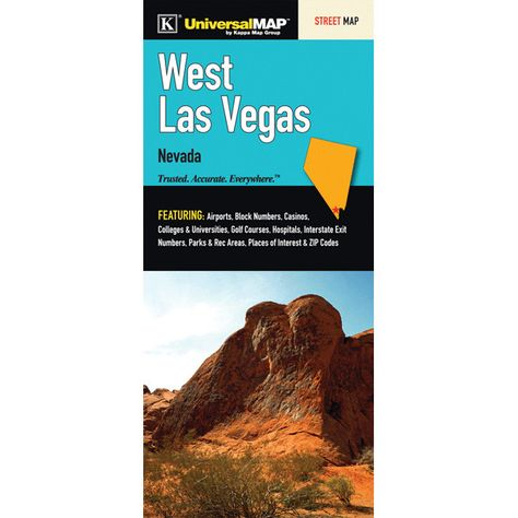 Las Vegas West /Spring Valley Fold Map (Set of 2)