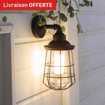 Applique Exterieure Ikitos E27 60 W Noir Inspire Leroy M 28 90e Applique Exterieur Luminaire Exterieur Lampe Murale Exterieur