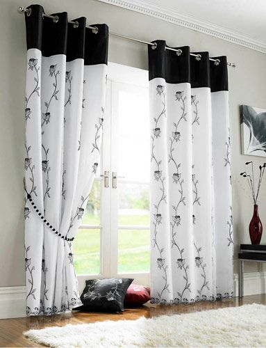 Tende Nere E Bianche.Creative Ways To Lengthen Store Bought Curtains Aredim