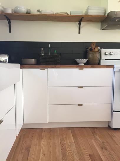 continental home hardware 134 in satin copper finger pull kitchen bathhome