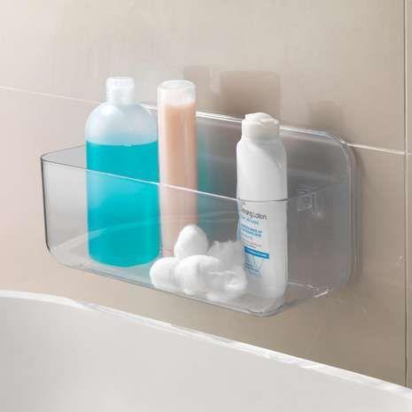 Addis Invisifix Wall Caddy Dunelm Shower Storage Bathroom Essentials Bathroom Shower