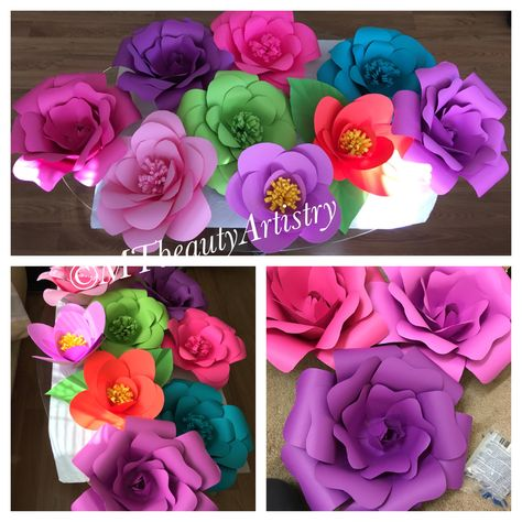 Cardstock Flower Perfect For Party Backdrop Paper Flowers Diy