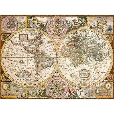 Puzzle Alte Weltkarte Alte Weltkarten Weltkarte Kunst Weltkarte