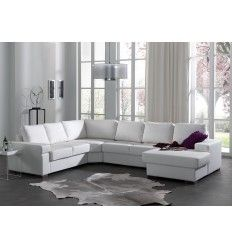 Ce canapé d angle cuir contemporain conférera  votre salon moderne