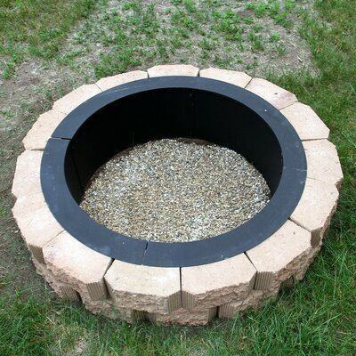 Arlmont Co Sandtoft Durable Steel Wood Burning Fire Pit In 2021 Cheap Fire Pit In Ground Fire Pit Fire Pit