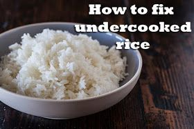 You Be The Cook Cooking Hack 101 How To Fix Under Cooked Rice Easy Microwave Recipes How To Cook Rice Rice In The Microwave