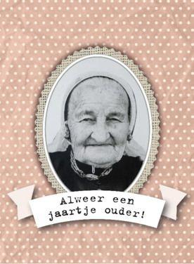 gefeliciteerd oude dame
