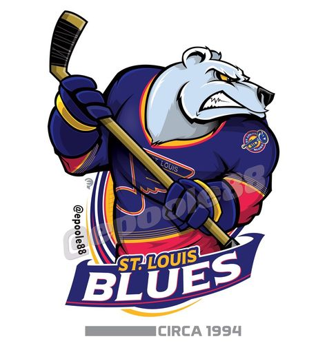 Retro mid-1990s St. Louis Blues, courtesy of that great cartoonist #EPoole88.