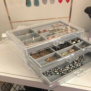 Jewelry Organizer Velvet Tray Jewelry Stand Jewelry Display Velvet Organizer Trays Necklace Holder Ring Holder Earrings Holder Stand Jewelry Drawer Makeup Storage Box Diy Jewelry Holder