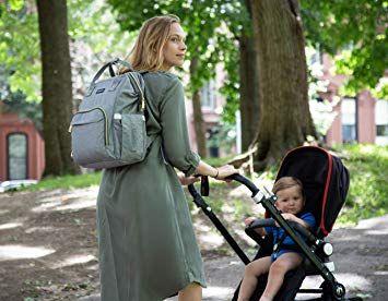 Zuzuro Diaper Bag Baby Bag Waterproof Backpack w//Large Capacity /& Multiple