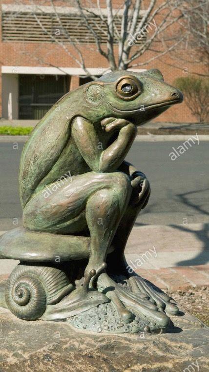 crazy frog garden ornament