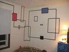 How-To-Create-Wall-Art-With-Electrical-Tape  #tape #wall