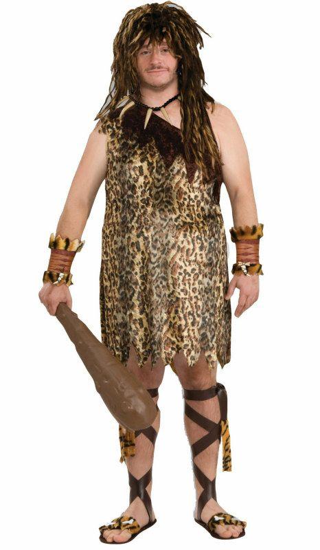 Adult Mens Womens Caveman/'s Club Halloween Stoneage Smiffys Fancy Dress Costume
