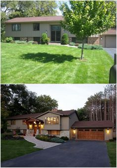 pleasing split entry house remodel before and after. Split Foyer Before After  Home Exterior Makeover entry exterior remodel For the Pinterest