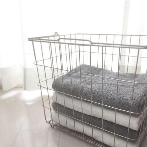 ちょっとした工夫でできる ホテルみたいなバスルームの作り方 収納 日用品 タオル 収納 カゴ バスルーム