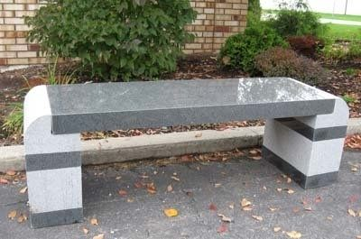 Stone Age Creations Polished Charcoal Granite Metro Stone Bench In 2020 Stone Bench Garden Bench Garden Patio Furniture