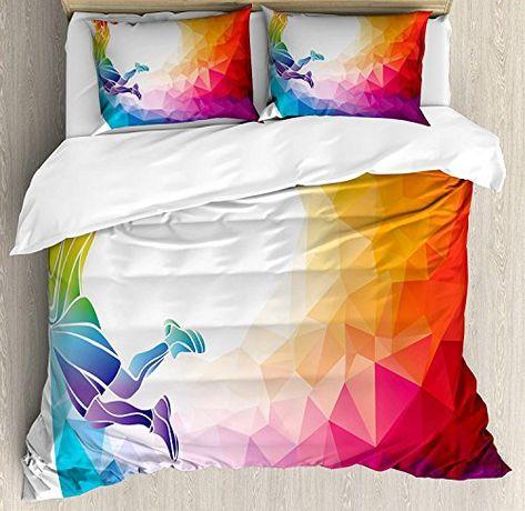 Fantasy Quilted Bedspread /& Pillow Shams Set Surreal Werewolf Eyes Print