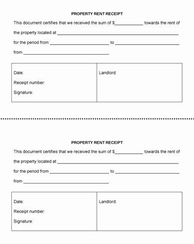 Free Receipt Template For Landlord