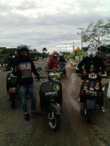 vespanya orang pulang pisau kalimantan tengah indonesia pulang