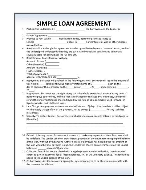 Personal Loan Agreement Pdf Contract Template Personal Loans Loan
