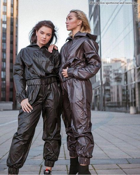 Shiny nylon sportswear and rainwear blog: Women's winter wear