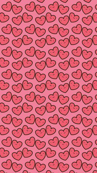 Cute Kawaii Happy Hearts Iphone 6 6 Plus Wallpaper Wallpaper Iphone Neon Iphone Wallpaper Wallpaper Iphone Cute