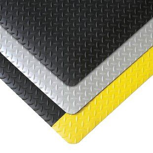 Rubber Cal Inc Diamond Plate Garage Flooring Roll In Black Flooring Garage Floor Tiles Vinyl Sheet Flooring