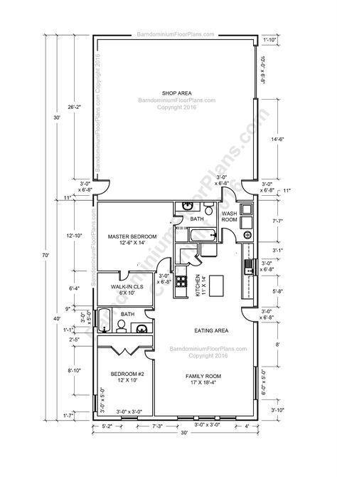 House Plans With Loft Open Concept Bath 67 Ideas In 2020 Metal Building House Plans Barndominium Floor Plans Metal Barn House Plans