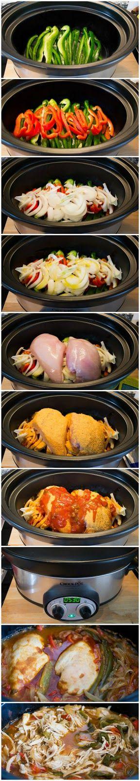 Fajitas de pollo Tex-Mex (con Crock Pot)