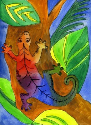 Great gecko art project.