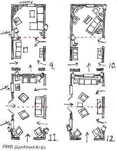 Floorplan Options 3 For Long Narrow Living Room