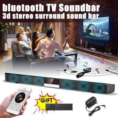 Wireless Bluetooth TV Speaker Soundbar 3d Stereo Surround Subwoofer Audio Speake