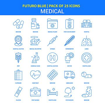 Medical Icons Futuro Blue 25 Icon Pack Medical Icons Blue Icons Ambulance Png And Vector With Transparent Background For Free Download In 2021 Medical Icon Hospital Icon Medical