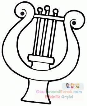 Muzik Aleti Boyama Ile Ilgili Gorsel Sonucu Muzik