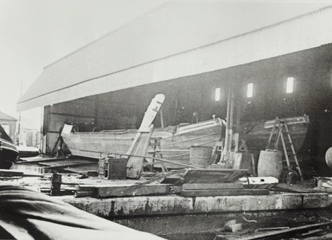 """Caption: """" Grand Union Canal Carrying Company narrowboats in Bulls Bridge dry dock""""  BW192-3-1-13-3 #London #canal #Boat"""