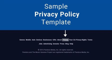 Privacy Policy - Sharecare Samples Pinterest Privacy policy - privacy policy sample template