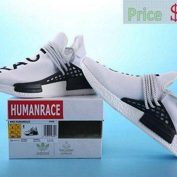 quality design 94936 5773a 2018 Fashion Pharrell Williams X adidas NMD Human Race White ...