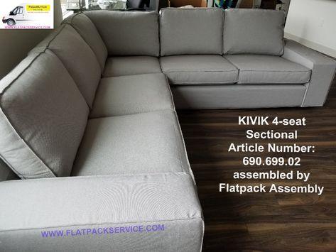 Ikea Kivik Sofa Sectional Article Number 690 699 02 Assembled By Flatpack Assembly 240 603 2781 Ki Ikea Furniture Assembly Ikea Sectional Sofa Light Gray Sofas