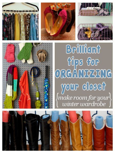 diy home sweet home: Brilliant Tips For Organizing Your Closet.