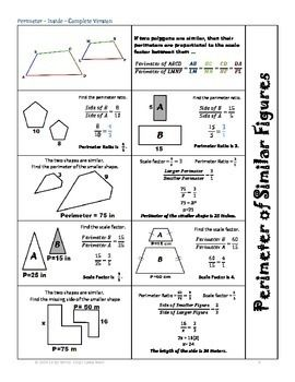 Perimeter Of Similar Figures Foldable Student By Caryn Loves Math Teachers Pay Teachers Geometry Worksheets Word Problem Worksheets Hs Geometry