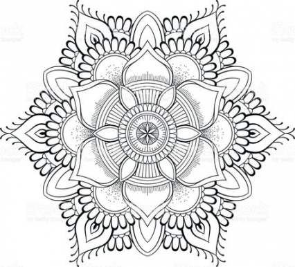 Flowers Pattern Vector Coloring Pages 41 Ideas Flowers Pattern