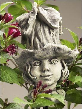 Blumenkinder Aus Stein Fur Den Garten Blutenkopf Blumenkopf Steinguss Blumenkinder Blumen Bluten